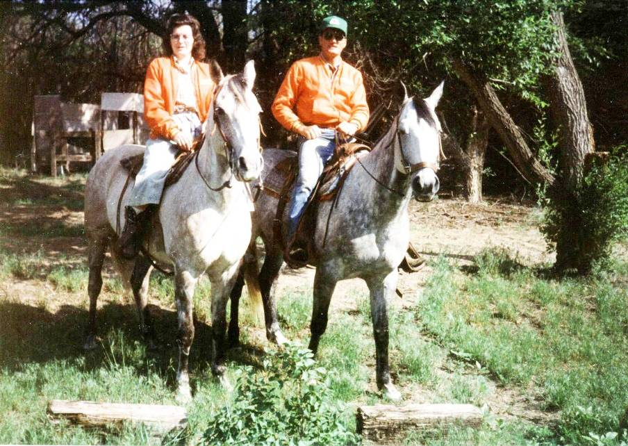 My Mom and Dad Horseback Riding in Nebraska