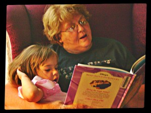 Grandma Reading to Madie
