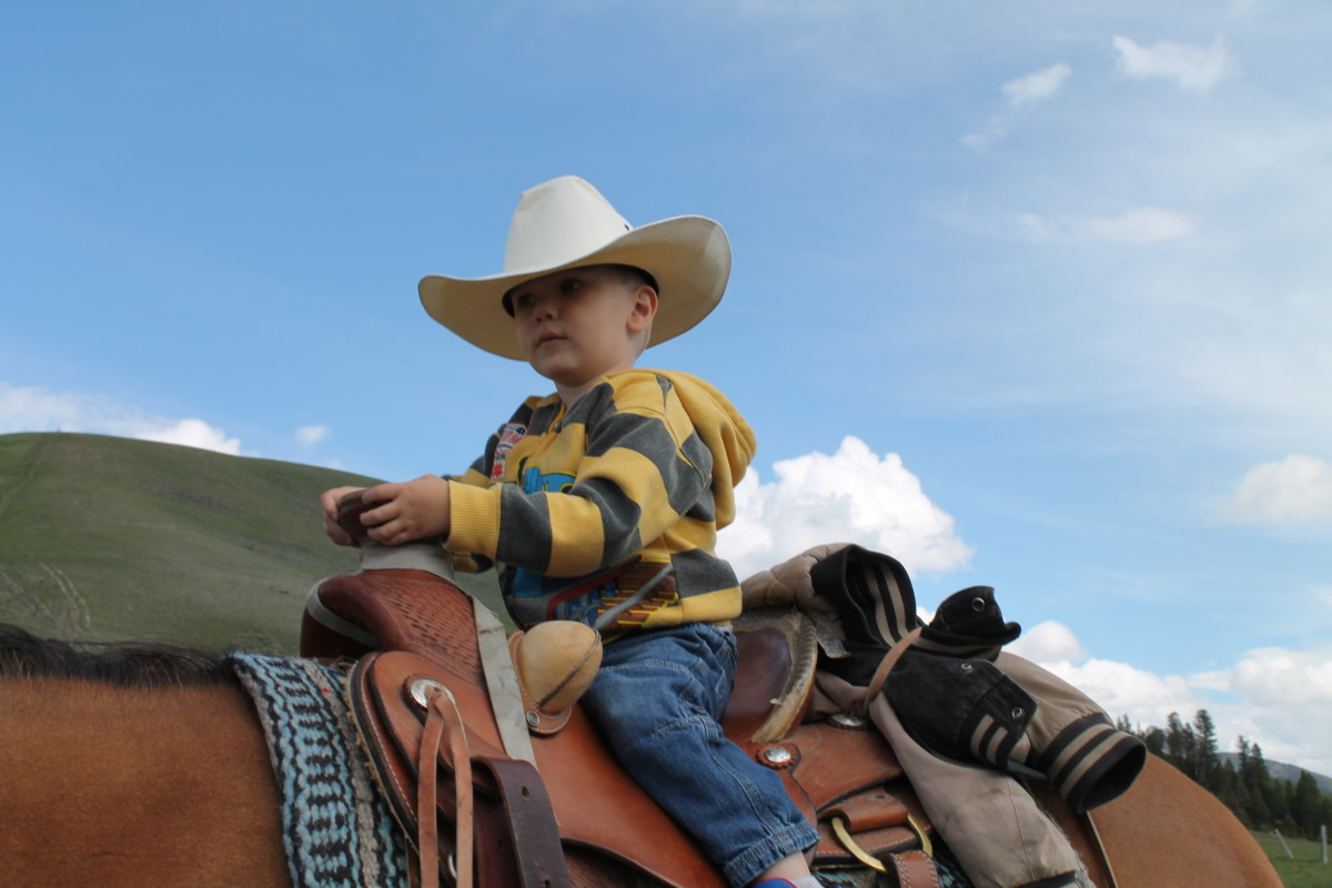 Little Cowboy With A Big Hat