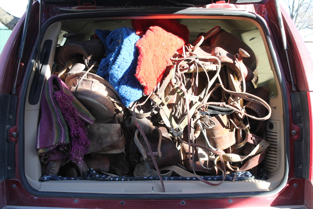 Our Car Full of Horse Tack