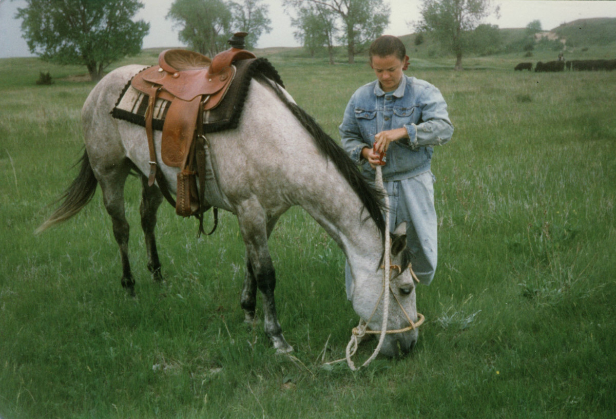 Rudy With New Saddle 1996