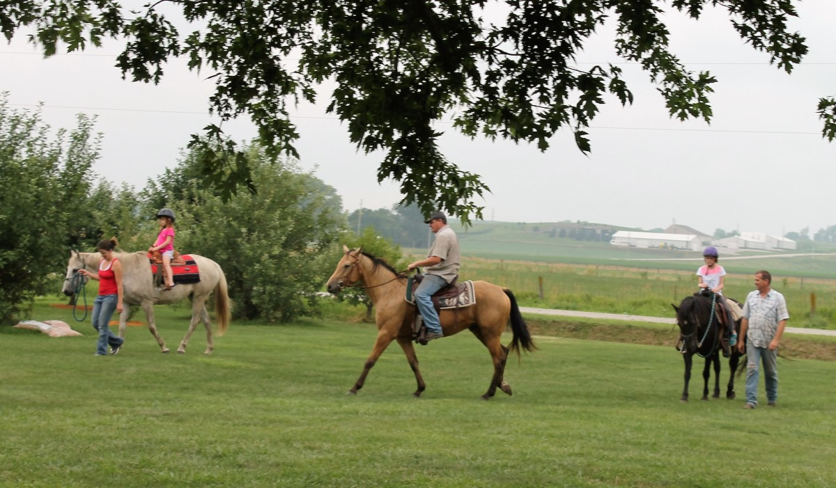 Horseback Riding on July 4